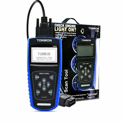 Tonwon TW60 OBD11/EOBD+CAN Scan Tool, BNIB, Slight Box Damage, Code, Reset, (L)