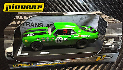 Pioneer Slot Car 1968 Chevy Camaro Green '12Hr Enduro Racer' - Brand New In Box