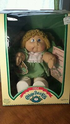 1984 Cabbage Patch Kid Blond Hair Blue Eyes ROBIN ELBERTINA