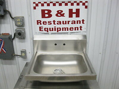 """BK Resources 24"""" Stainless Steel 1 Bowl Wall Mount Hand Sink BKHS-W-1620"""