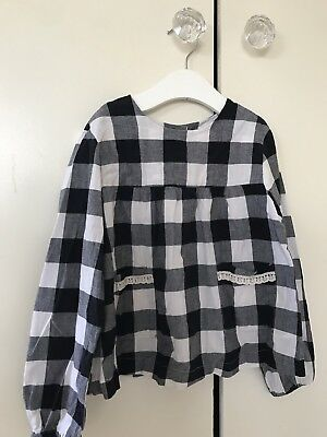 Little Cotton Clothes Gingham Blouse Age 6-7 Years