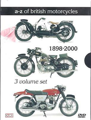 A-Z Of British Motorcycles by DUKE, 3 DVD Set BSA Triumph Norton JAP AJS James