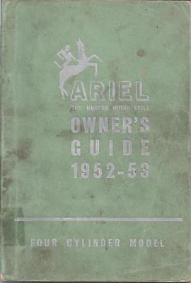 Ariel Square Four 1000cc Onwers Guide Manual 1952 to 1953 BSA Triumph Norton