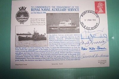1994 Disbandment Of The R.n.x.s. Fdc Stamps Multi Signed Commanders Rnxs