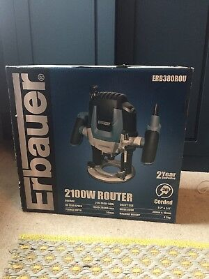 NEW BOXED Erbauer ERB380ROU 2100W Router 230-240V