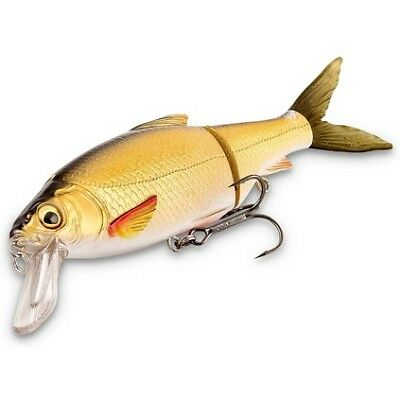 Savage 3D Roach Lipster Swimbait Lure - 13cm, Black Gold Mullet, 26g