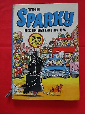 The Sparky Book for Boys & Girls 1974 Annual Vintage