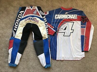 Ricky Carmichael Autographed Jersey & Pants Gear Set from 2002 US Open!