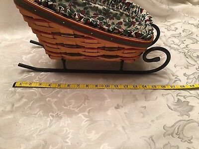 Longaberger Wrought Iron And Basket Set Hoilday Sleigh.