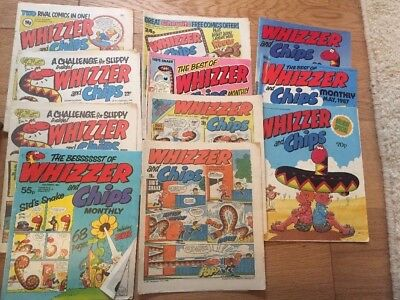 11 Whizzer and chips comics from 1980s rare vintage