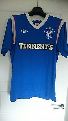 Glasgow Rangers 2011-12 Home football top shirt strip kit Umbro Medium Tennent's