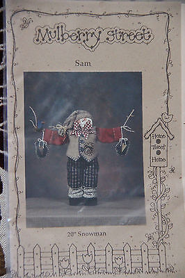 CHRISTMAS PATTERN~ Sam Snowman ~ Sewing Pattern~lots more patterns for sale