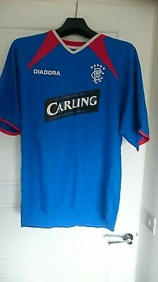 Glasgow Rangers 2003-05 Home football top shirt strip kit Diadora Medium retro