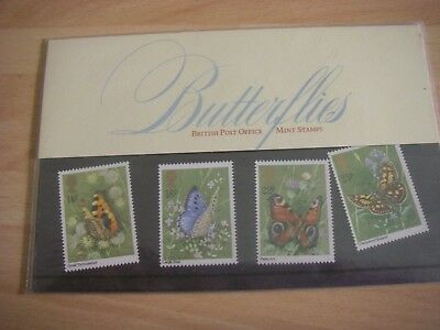 British Post Office Butterflies Stamps