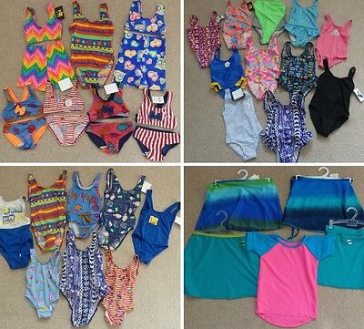 Joblot Bundle 150 + Girls Swimwear Swimsuit Bikini Top Brief Skirt T-Shirt Kids