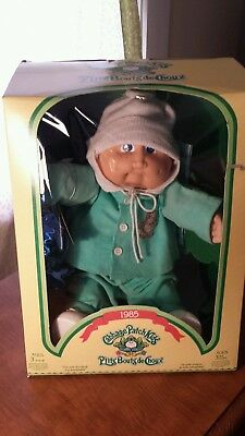1984 Cabbage Patch Kid Bald Blue Eyes  Freckles dimplesCanada Docs OPENED