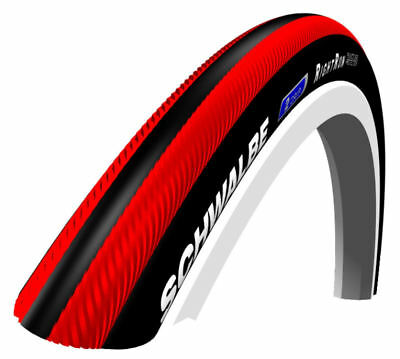 Schwalbe - RightRun Coloured Wheelchair Tyres - Red/Black, Size: 26 x 1 (25-590)