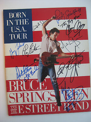 Bruce Springsteen & E Street Band - Fully Signed Tour Program - Signed By All 9