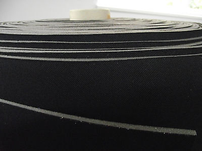 Car FABRIC Padding Color Black with 0 1/8in Foam Back and Charmeuse