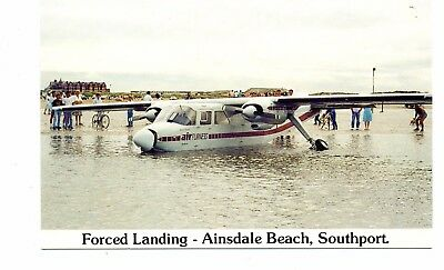 """ Isle Of Man ""  Forced  Landing  Ainsdale Beach  Southport Mail Run       1987"