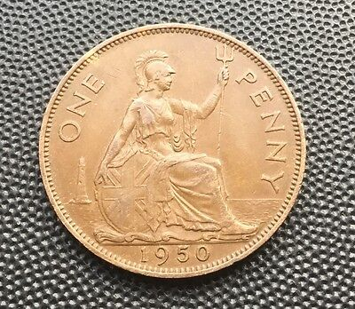 scarcer date 1950 George V1 penny coin
