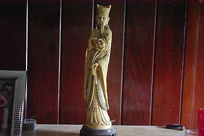 Beautiful Antique Asian Ivory colored Statue