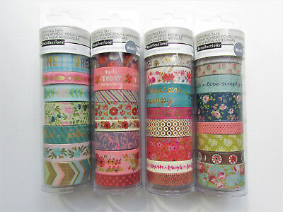 Recollections VINTAGE FLORAL FLOWERS Washi Crafting Tape Lot #2