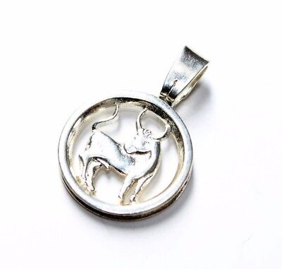Vintage Sterling Silver 925 Taurus The Bull Pendant (no chain) c1990s
