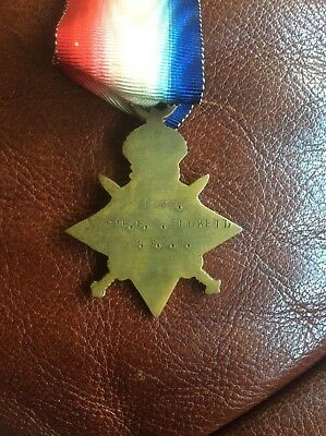Ww1 1914/15 Star Awarded To Pte. Beckett R.a.m.c.
