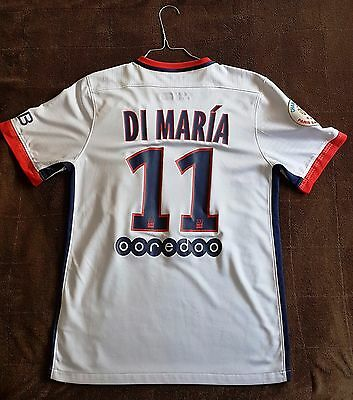 Maillot PSG blanc Di Maria 15/16 taille S comme neuf