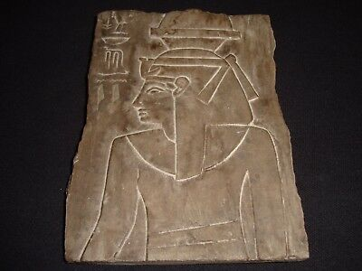 Rare Antique Ancient Egyptian Craved Nefertari Wall Fragment Relief 1250–1300 BC