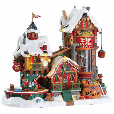 Elf Made Toys - Lemax Michaels Signature Christmas Village Animated Sounds NEW!