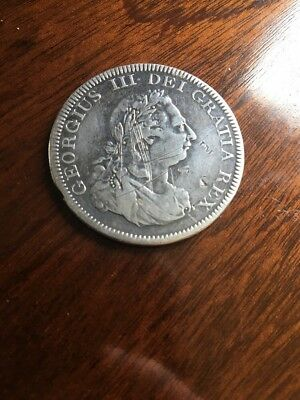 1804 George III Bank Of England Silver Dollar / 5 Shillings / Crown