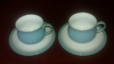 DENBY COLONIAL BLUE (2 cups and saucers)-excellent - £11.99 ...
