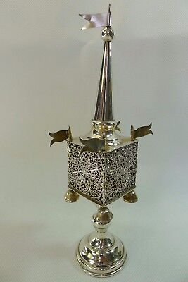 Judaica silver sterling besamim spice tower