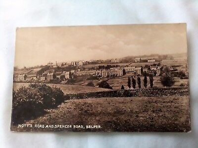 Derbyshire NOTT'S ROAD AND SPENCER ROAD, BELPER Old Real Photo Postcard