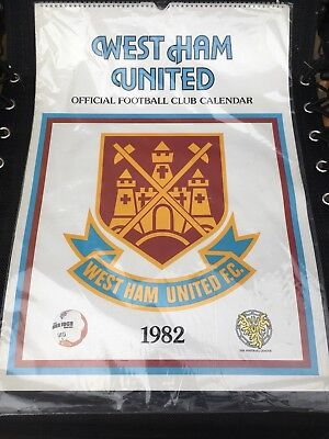 Unopened West Ham 1982 Calendar in mint condition
