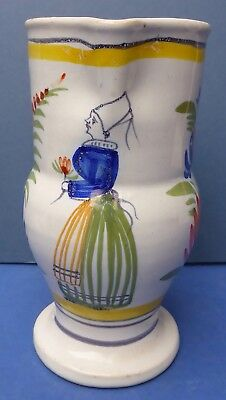 Early Antique Quimper HB Petit Breton Faience Jug 1883-95 De La Hubaudiere
