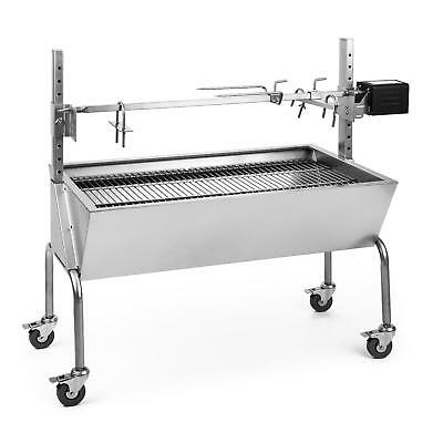 Outdoor Grill Rotisserie Charcoal Barbecue Stainless Steel Skewers Portable Set