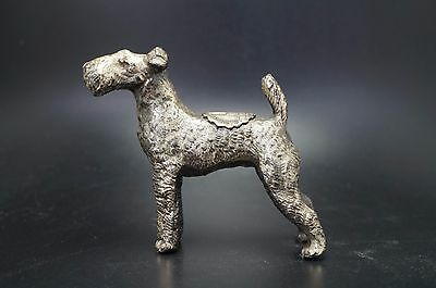VTG Metal IRISH TERRIER Dog Souvenir Cathedral Learning PA Airedale Fox Lakeland