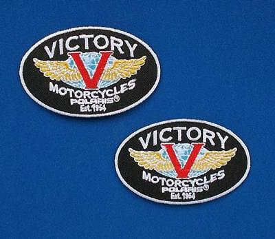 Victory Motorcycles Biker Rider Vest Jacket Shirt Jean Small Patch (2*patch Lot)