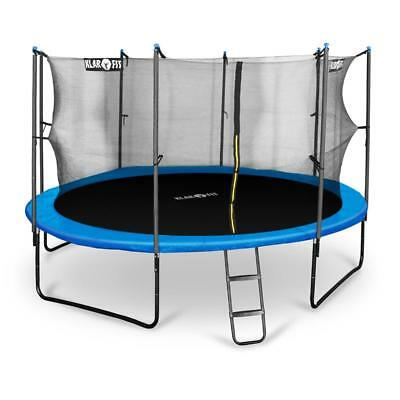 KLARFIT ROCKETBOY 430cm GARDEN TRAMPOLINE WITH SAFETY NET GYMNASTICS TRAINING