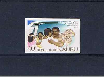 NAURU 1976 40c Return from Truk Imperforate single