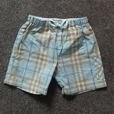 Burberry designer Baby boys blue & beige check shorts age 18 mth