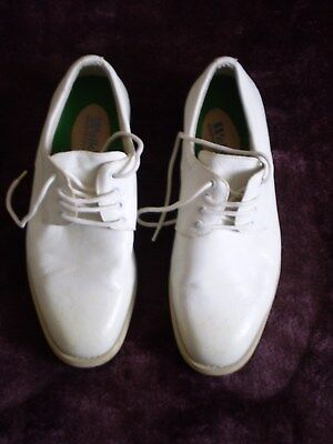 Welkin white leather bowling shoes size 7