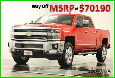 2018 Chevrolet Silverado 2500 HD MSRP$70190 4X4 LTZ Diesel Sunroof Red Crew 4WD New 2500HD Duramax Heated Cooled Cocoa Leather GPS Navigation 17 2017 18 Cab 6.6