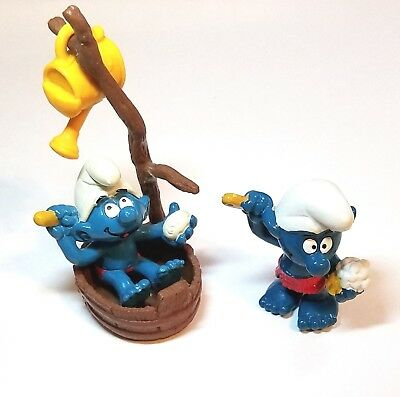Collectible Cleaning Tidy Smurf Set - 2 Pack Variety