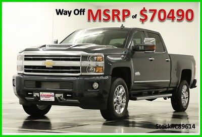 2018 Chevrolet Silverado 2500 HD MSRP$70490 4X4 High Country Diesel Sunroof Gray New 2500HD Turbo Duramax Heated Cooled Leather Seats GPS Navigation 17 2017 18