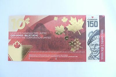 Canadian Tire limited edition CANADA 150 ANNIVERSARY 10-cent bill