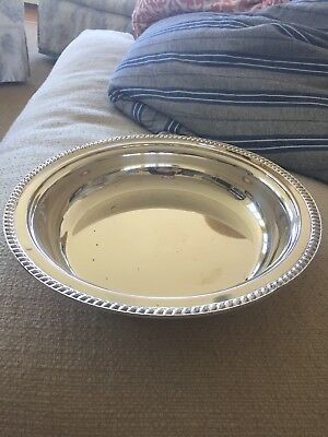 Silver Plated Circular Serving Dish, Good Condition